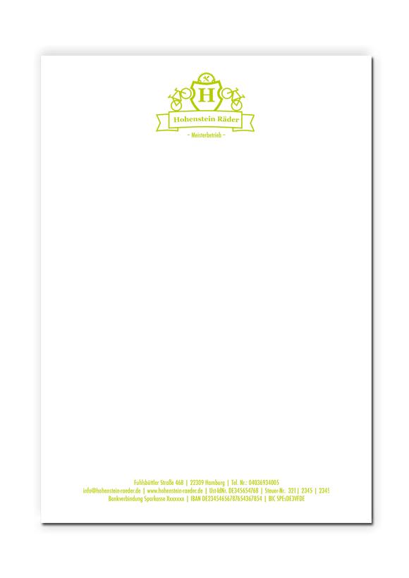 HR Briefpapier